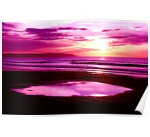 piece of sky purple  Poster