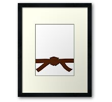 Judo Brown Belt Framed Print