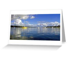 Boats and Blue Skies Greeting Card