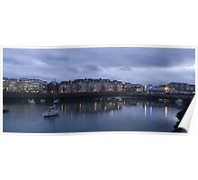 Dun Laghaire Harbour at Sunset Poster