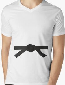 Judo Black Belt Mens V-Neck T-Shirt