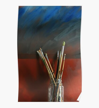 Artists Brushes Poster