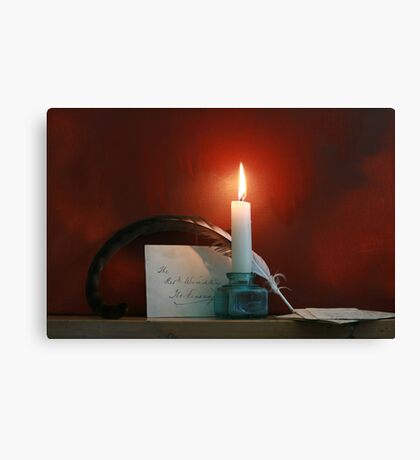 Pen and Quill Canvas Print