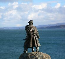 """Watcher of the Sea (Moelfre)"" by Raymond Kerr"