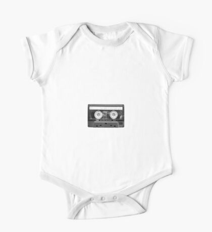 Retro 80s Cassette Tape  One Piece - Short Sleeve
