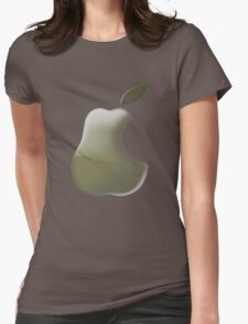 Pear: I wanna be a Logo 2!!!! Womens Fitted T-Shirt