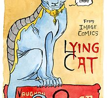 Lying Cat by redgoldsparks