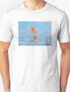 Young girl and sea I Unisex T-Shirt
