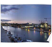 Sunset Over Grand Canal Basin, Ringsend, Dublin Poster