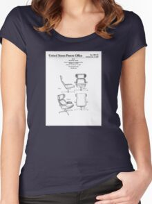 Iconic Eames Recliner/Lounger Lounge Chair Patent Drawings Women's Fitted Scoop T-Shirt