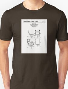 Iconic Eames Recliner/Lounger Lounge Chair Patent Drawings Unisex T-Shirt
