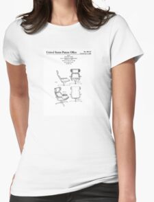 Iconic Eames Recliner/Lounger Lounge Chair Patent Drawings Womens Fitted T-Shirt