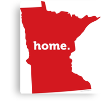 Minnesota Home Red Canvas Print