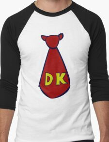 DK Donkey Kong Tie Men's Baseball ¾ T-Shirt