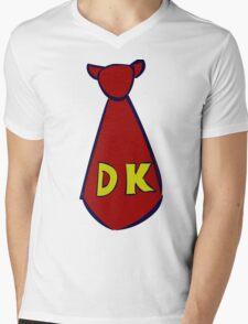 DK Donkey Kong Tie Mens V-Neck T-Shirt