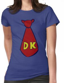 DK Donkey Kong Tie Womens Fitted T-Shirt