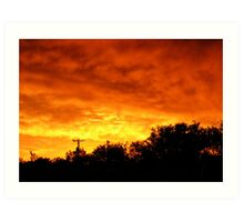 New Mexico sky after storm Art Print