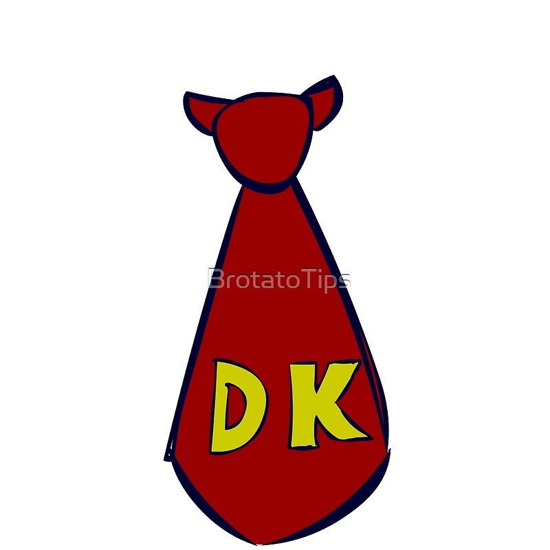quot dk kong tie quot posters by brotatotips redbubble