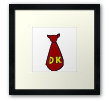 DK Donkey Kong Tie Framed Print
