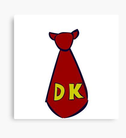 DK Donkey Kong Tie Canvas Print