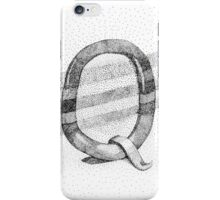 Q Stippling iPhone Case/Skin