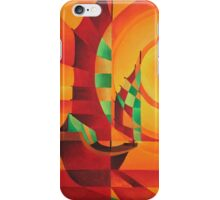 Cubist Junks on A Red Sea iPhone Case/Skin