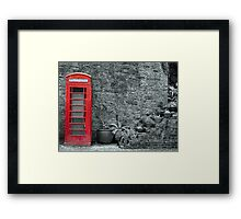 Old telephone Box 2 Framed Print