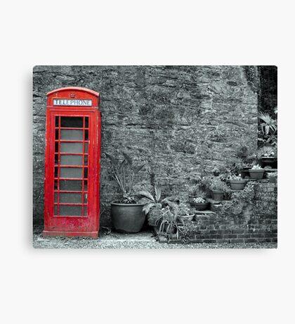 Old telephone Box 2 Canvas Print