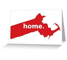 Massachusetts Home Red Greeting Card