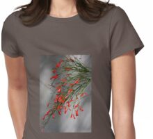Delicate Red Womens Fitted T-Shirt