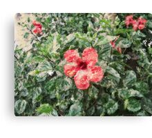 digital painting flower Canvas Print