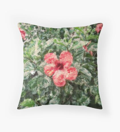 digital painting flower Throw Pillow