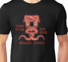 Double red dragon oriental style with words Unisex T-Shirt
