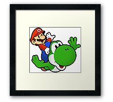 Paper Mario And Yoshi Framed Print