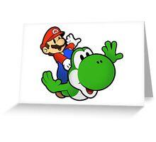 Paper Mario And Yoshi Greeting Card