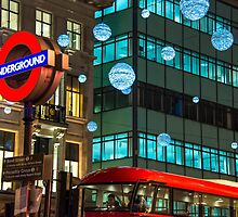 London Underground at Christmas by Roselyn Shoko
