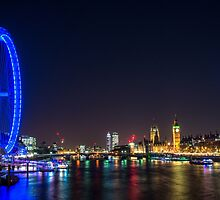 London Skyline at Night by Roselyn Shoko