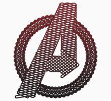 Celtic Avengers A logo, Black Outline, Red Gradient Fill T-Shirt