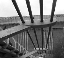 Londons Millenium Bridge and Tate Modern by laurawhitaker