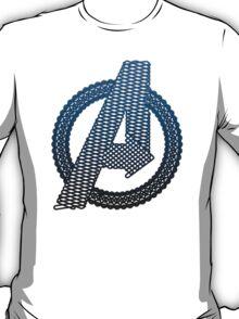 Celtic Avengers A logo, Black Outline, Blue Gradient Fill T-Shirt