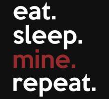 Eat Sleep Mine Repeat One Piece - Long Sleeve