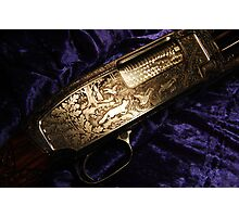 Hunting scene from Remington 12 shotgun Photographic Print