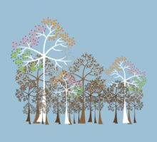 Colorful Four Seasons Trees Kids Clothes