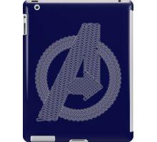 Celtic Avengers A logo, White Outline, no Fill iPad Case/Skin
