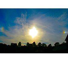 Double Sundog At Sunset Photographic Print