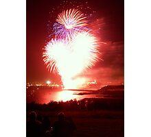 Bright Red Firework Photographic Print