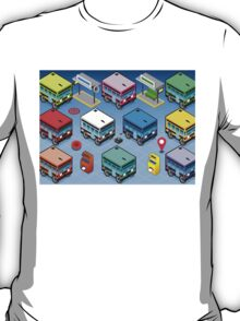 Isometric Rainbow Buses  T-Shirt