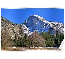 Yosemite Half Dome in Winter Poster