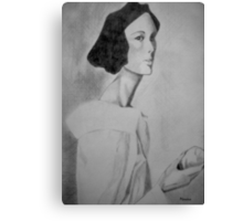 Portrait with apple Canvas Print