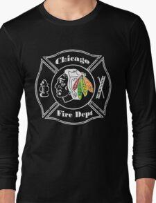 Blackhawks Chicago Fire Department Long Sleeve T-Shirt